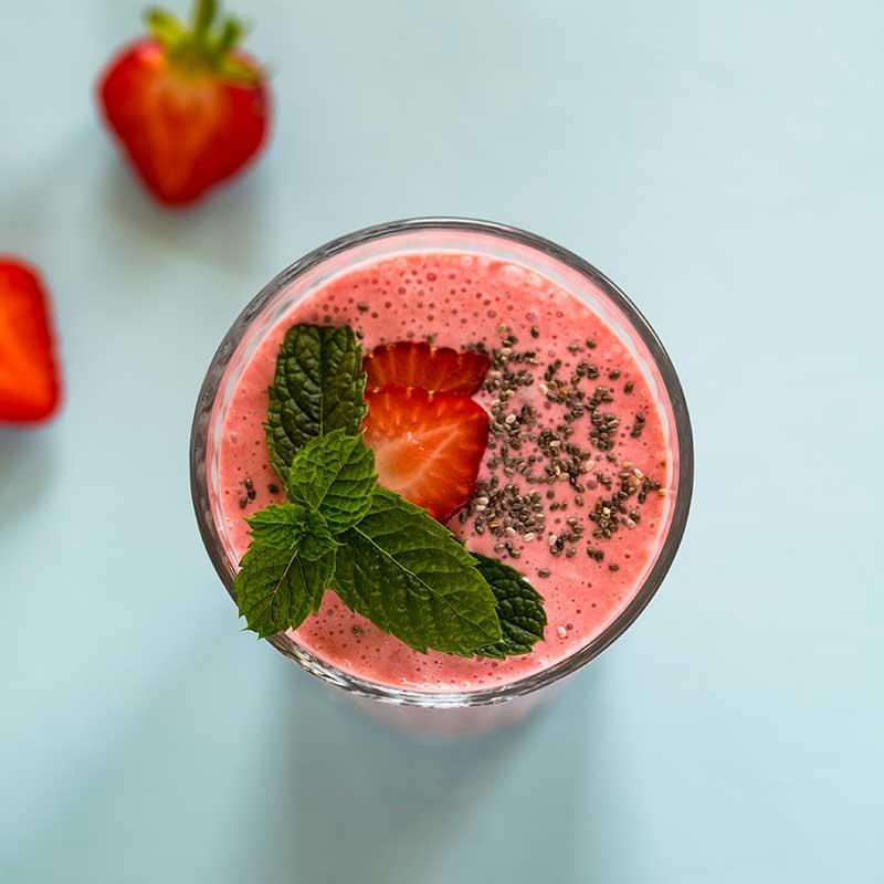 Spicy Strawberry Smoothie