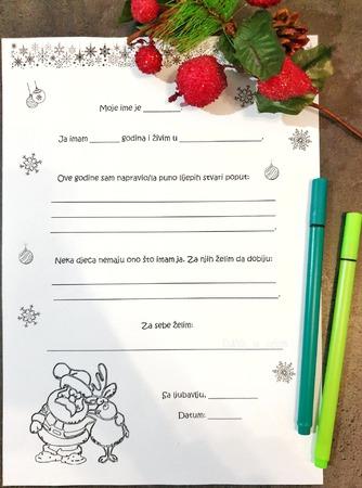 Pismo Djedu Mrazu – besplatan predložak