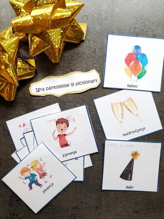 Novogodišnje igre za djecu – besplatan predložak
