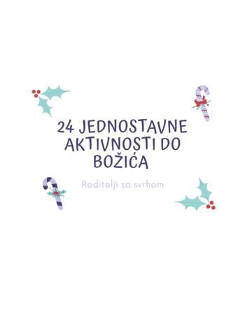 24 jednostavne aktivnosti do Božića